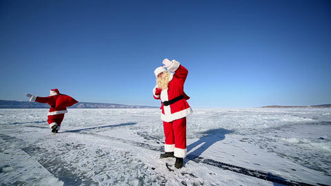 Santa Claus, looping, infinity Footage