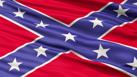 Confederate Battle Flag Close Up Stock Video Footage