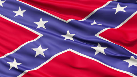 Confederate Battle Flag Close Up Animation