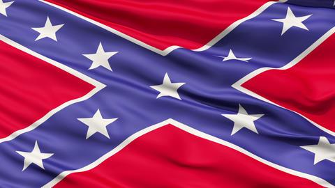 Confederate Battle Flag Close Up stock footage
