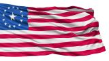 Realistic 3D Detailed Slow Motion Fallout Flag In The Wind stock footage