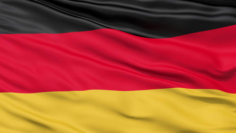 Realistic 3D Detailed Slow Motion Germany Flag In The Wind stock footage