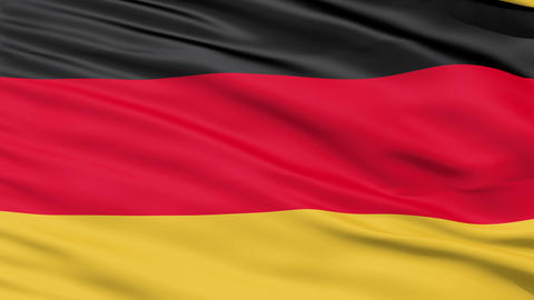Realistic 3D detailed slow motion germany flag in the wind Stock Video Footage