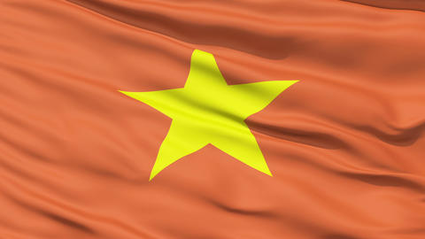 Yellow Star On Vietnam Flag Animation