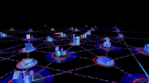 Network City 2a HD Animation
