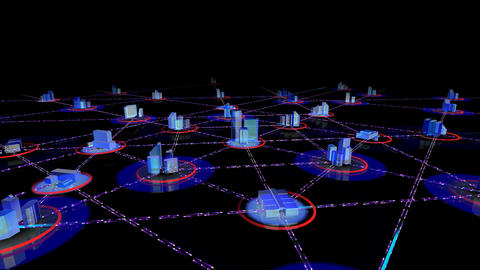 Network City 2a HD Stock Video Footage