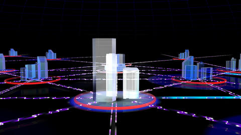 Network City 2c HD Stock Video Footage