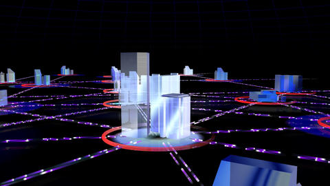Network City 2c HD CG動画素材