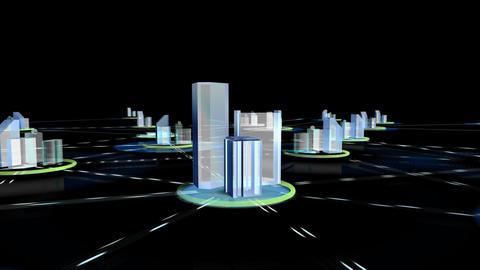 Net City 3c HD Stock Video Footage