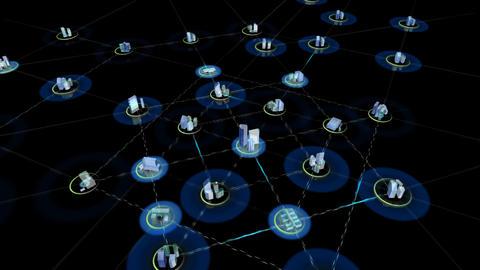 Net City 3d HD Stock Video Footage