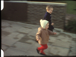 Boys race competition (8mm-film) Footage