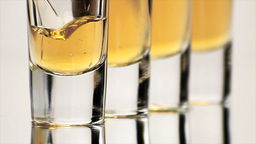 Shot Glasses 01 Stock Video Footage