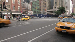 NYC Yellow Taxi Cab Stock Video Footage