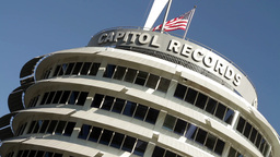 Capitol Records Building 02 Stock Video Footage