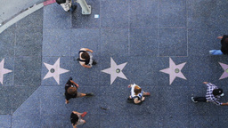 Hollywood Boulevard Stars from Above Stock Video Footage