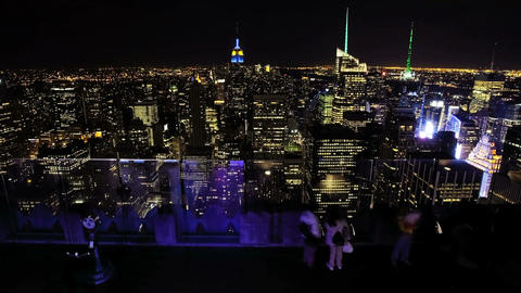 New York City at night, Time Lapse Stock Video Footage