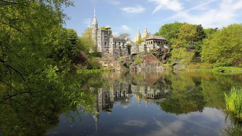 Belvedere Castle Stock Video Footage