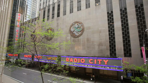 Radio City Music Hall Stock Video Footage