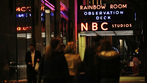 NBC Studio Sign Stock Video Footage