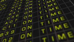 Airport Timetable All Flights Get Cancelled 01 Stock Video Footage