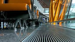 Beijing Airport Terminal China 02 Stock Video Footage
