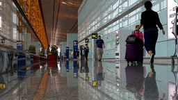 Beijing Airport Terminal China 04 Stock Video Footage