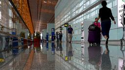 Beijing Airport Terminal China 04 Stock Video Footage