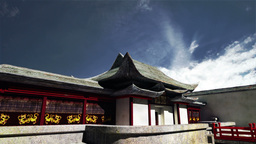 Chinese Building Clouds Timelapse 08 Stock Video Footage