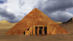 Egyptian Scene Clouds Timelapse 04 Stock Video Footage