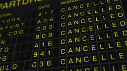 International Airport Timetable All Flights Cancelled 01 Animation