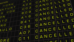 International Airport Timetable All Flights Cancelled 01 Stock Video Footage