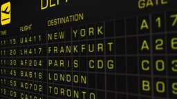 International Airport Timetable All Flights Cancelled 05 Stock Video Footage