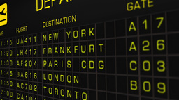 International Airport Timetable All Flights Cancelled 05 Animation