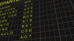 International Airport Timetable All Flights Get Cancelled 01 Animation