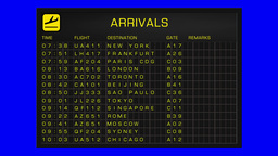 International Airport Timetable All Flights Gets Cancelled BlueScreen ARRIVALS Animation