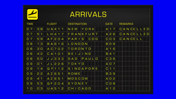 International Airport Timetable All Flights Gets... Stock Video Footage