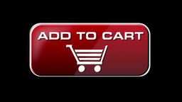 Online Shopping Add To Cart 01 red LOOP Stock Video Footage