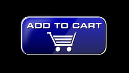 Online Shopping Add To Cart 03 blue LOOP Stock Video Footage