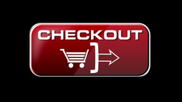 Online Shopping CHECKOUT 01 red LOOP Stock Video Footage