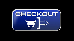 Online Shopping CHECKOUT 03 blue LOOP Stock Video Footage