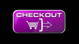 Online Shopping CHECKOUT 05 pink LOOP Stock Video Footage