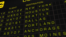 US Domestic Airport Timetable All Flights Cancelled 02 Animation