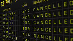 US Domestic Airport Timetable All Flights Cancelled 04 Animation