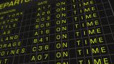 US Domestic Airport Timetable All Flights Get Cancelled 01 stock footage