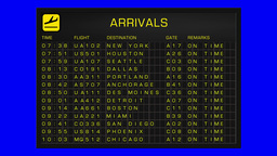 US Domestic Airport Timetable All Flights Gets Cancelled... Stock Video Footage