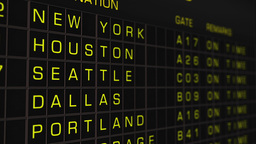 US Domestic Airport Timetable All Flights On Time 03 Animation