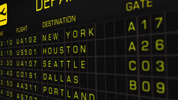 US Domestic Airport Timetable All Flights On Time 05 Animation