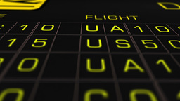 US Domestic Airport Timetable All Flights On Time 07... Stock Video Footage
