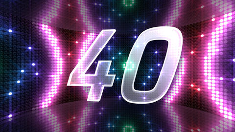 Countdown A60a Stock Video Footage