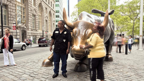 Wall Street Bull Stock Video Footage